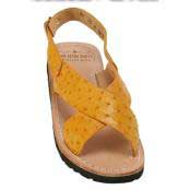 JSM-2161 Mens Exotic Skin Sandals in ostrich Alligator or