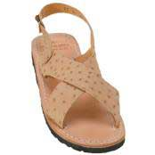 JSM-2163 Mens Exotic Skin Sandals in ostrich Alligator or