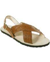 JSM-2164 Mens Exotic Skin Sandals in ostrich Alligator or