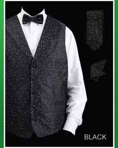 JKA5 4 Piece Vest Set (Bow Tie Neck Tie