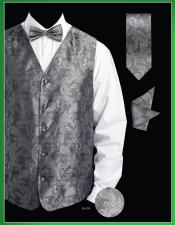 KJS9 4 Piece Vest Set (Bow Tie Neck Tie