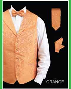 KL353 4 Piece Vest Set (Bow Tie Neck Tie