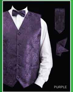 PSJ8 4 Piece Vest Set (Bow Tie Neck Tie