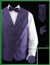 PUA9 4 Piece Vest Set (Bow Tie Neck Tie