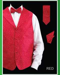 GAM3 4 Piece Vest Set (Bow Tie Neck Tie