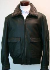 RM1646 Classic Aviation Jacket With Sherpa-Lined Collar & Flap