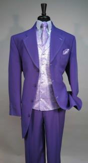 AC-988 Four Button Single Breasted Vested Suit Jacket With