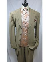 SS-55 Paisley Vested 4 Button Style Single Breasted Suit