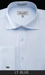LT54C French Cuff Dress Shirt - Classic Stripe Light
