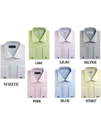 PN-G8 Striped Dress Shirt For French Cuff Multi-color