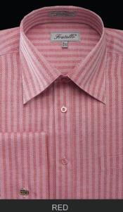 MK680 Fratello French Cuff red color shade Dress Shirt