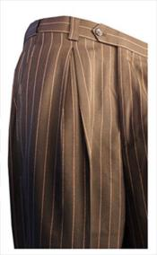 RM1722 pronounce visible Chalk Pinstripe Gangster Slacks Dress Pants