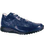 PN_J67 8900 Nappa & Baby Alligator skin Sneakers Blue