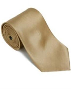 Gold 100% Silk Solid Necktie
