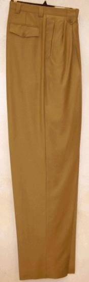 SK821 long rise big leg slacks Gold Wide Leg