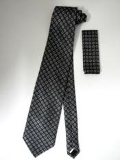 KA6774 Neck Tie Set Dark Grey Masculine color Gray