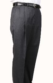 Product#GW3602GrayWindowpaneParkerPleatedSlacksPantsLinedTrousers