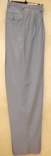 GB312 long rise big leg slacks Silver Gray wide