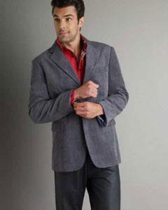 SM336 37750-J Patroncito Gray Corduroy Fashion Jacket