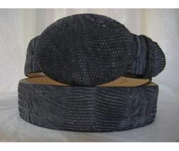 JR40W Genuine Distressed Gray Lizard Teju Western Cowboy Belt
