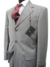 CL200 Collezinai SUIT~150S Wool Fabric~LIGHT GRAY Shark Skin Suit