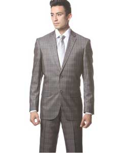 Dark Gray Plaid Slim narrow