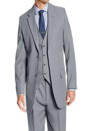 JSM-279 Mens Gray Stacy Adams Suny Vested 3 Piece