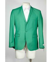 Green Peak Lapel One Button