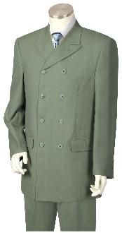 KA9870 Olive Green Suit for Men