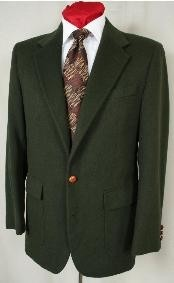 1827 Hunter Green Antique brass crest buttons Blazer Online