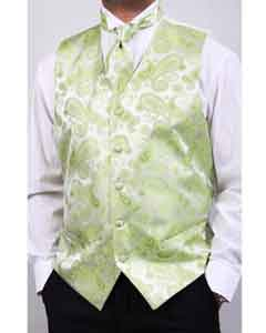 PN_V62 lime mint Four-Piece Vest Set