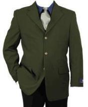 AA422 Olive Green 3 Button Style Blazer ~ Suit