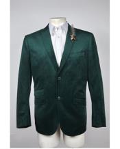 Mens Green Blazer Velvet Blazer 2