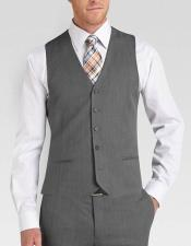 JSM-4838 Besom pocket 5 buttons fashionable grey vest