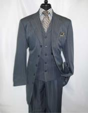 JSM-1411 Mens 5 Button Grey Steel Notch Lapel Single