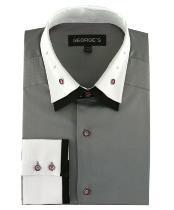 Mens Double Spread Collar
