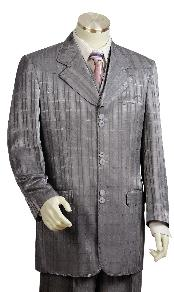 GK9100 3 Piece Grey Unique Exclusive Fashion Suit For