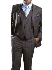 SM670 3 Piece Big & Tall Notch Lapel Grey