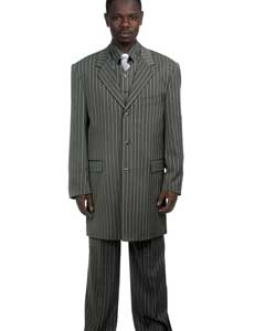 Stylish Grey Pinstripe Suit For sale ~ Pachuco Mens