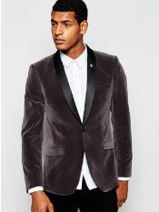 Grey ~ Gray mens Velvet