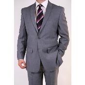 FJ7829 Grey Two-button Peak Lapel Suit