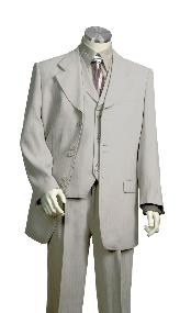 HC2317 Vested Unique Exclusive Fashion Suit Grey