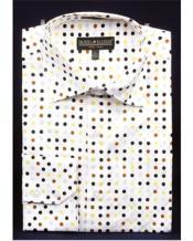 JSM-2768 Mens High Collar Shirts DE Brown Big Cuff