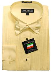 TUX8811 Ivory Yellow Tuxedo Dress Shirt with Bowtie &