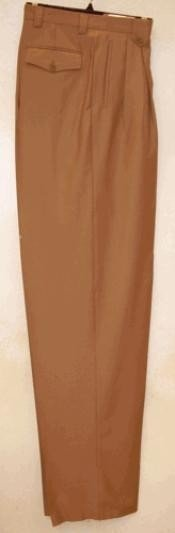 AV721 long rise big leg slacks Camel ~ Khaki