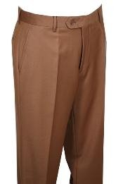 BN311 Dress Pants Camel ~ Khaki without pleat flat