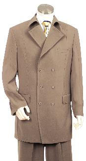 JG7522 Fashionable Khaki Long length Zoot Suit For sale