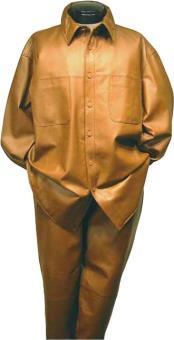 Lamb Leather Suit Long