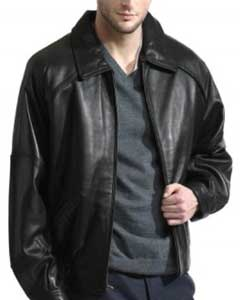 Lambskin Liquid Jet Black Leather Bomber