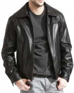 PN_K51 Modern James Dean Leather Jacket Full Grain Lambskin
